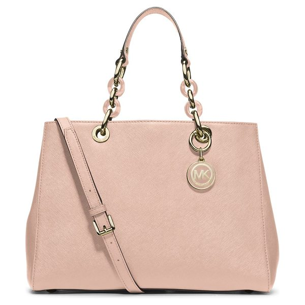 MICHAEL Michael Kors Medium satchel in pastelpink - Structured and sophisticated in a versatile hue,...