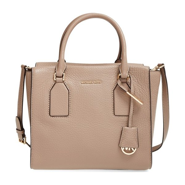 MICHAEL MICHAEL KORS Medium selby grainy leather satchel - Gilded hardware and contrast stitching highlight the...