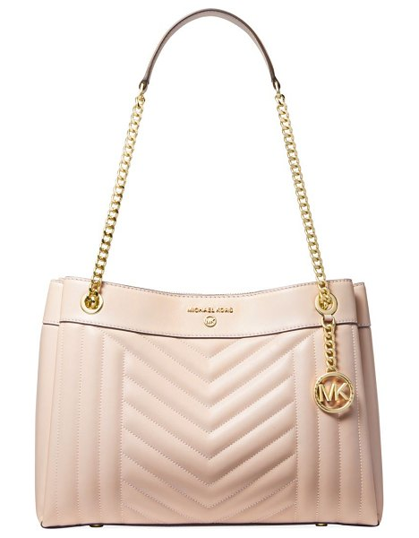 MICHAEL Michael Kors medium susan quilted leather tote in soft pink