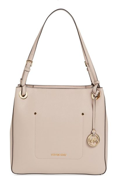 MICHAEL Michael Kors medium walsh leather tote in soft pink - Refresh your around-town style with a structured tote...