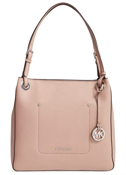 MICHAEL Michael Kors medium walsh leather tote in fawn - Refresh your around-town style with a structured tote...
