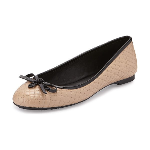 MICHAEL Michael Kors Melody quilted patent ballet flat in nude - MICHAEL Michael Kors quilted patent leather flat. Flat...