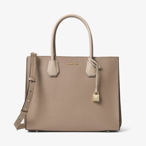 MICHAEL MICHAEL KORS Mercer Large Pebbled Leather Accordion Tote in brown - Crafted From Pebbled Leather Our Mercer Tote Is Updated...