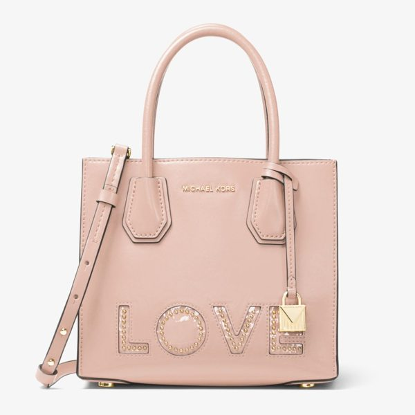 MICHAEL Michael Kors Mercer Love Leather Crossbody in pink - Love Is The Thing This Season When It Comes To Our...