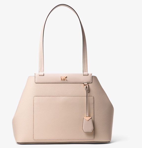 MICHAEL Michael Kors Meredith Medium Pebbled Leather Tote in pink - Crafted From Pebbled Leather This Meredith Tote Features...