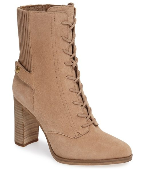 MICHAEL MICHAEL KORS michael by michael kors carrigan lace-up bootie - Corset-inspired lacing ladders up the front of this prim...