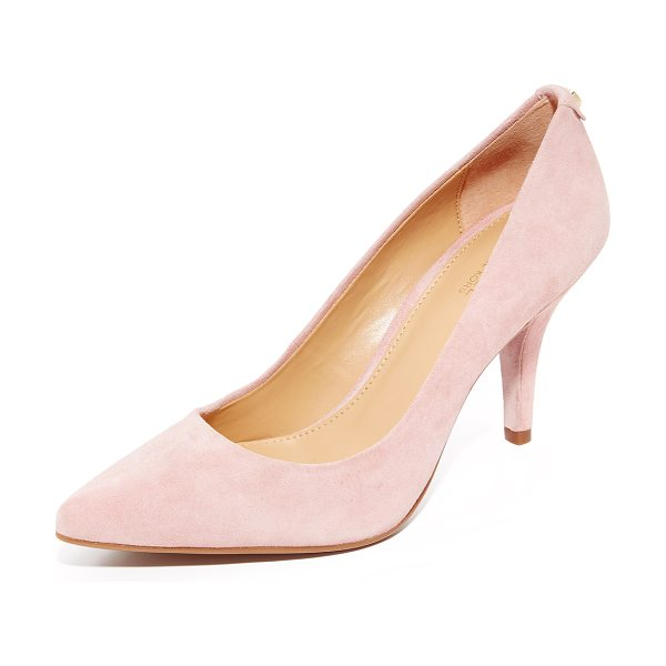 MICHAEL Michael Kors mid flex pumps in blossom - Luxe suede MICHAEL Michael Kors pumps in a classic...
