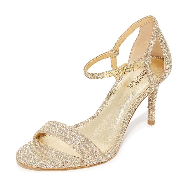 MICHAEL MICHAEL KORS simone mid sandals - Chunky glitter shimmers from these MICHAEL Michael Kors...