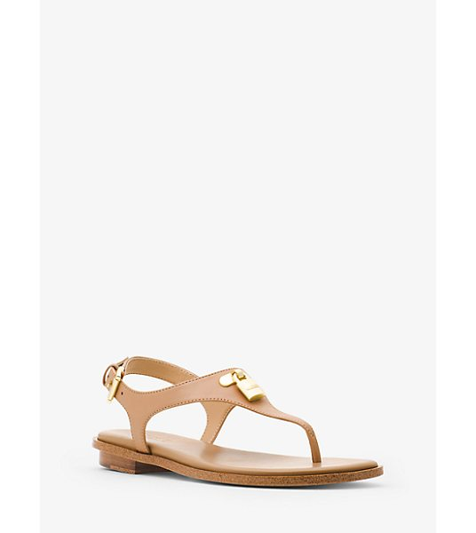 MICHAEL Michael Kors Mira Leather Sandal in brown - Keep It Classic From City Sidewalks To Beach...