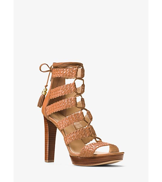 MICHAEL MICHAEL KORS Monterey Leather Sandal in brown - Rendered In Luxe Leather Our Monterey Sandals Exude...