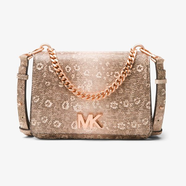 MICHAEL MICHAEL KORS Mott Lizard-Embossed Leather Crossbody - Designed To Take You From Am To Pm The Mott Is Reimagined...