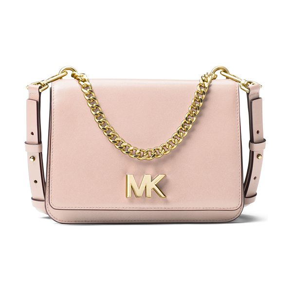 "MICHAEL Michael Kors Mott Large Chain Swag Shoulder Bag in light pink - MICHAEL Michael Kors ""Mott"" leather shoulder bag...."