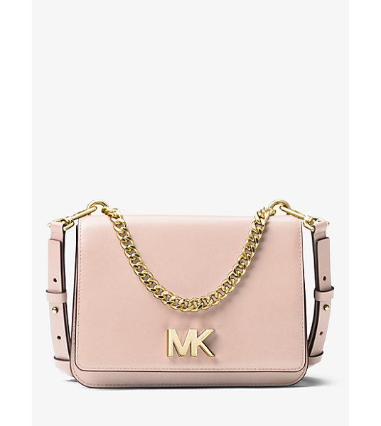 MICHAEL MICHAEL KORS Mott Leather Crossbody in pink - Designed To Take You From Am To Pm The Mott Is...