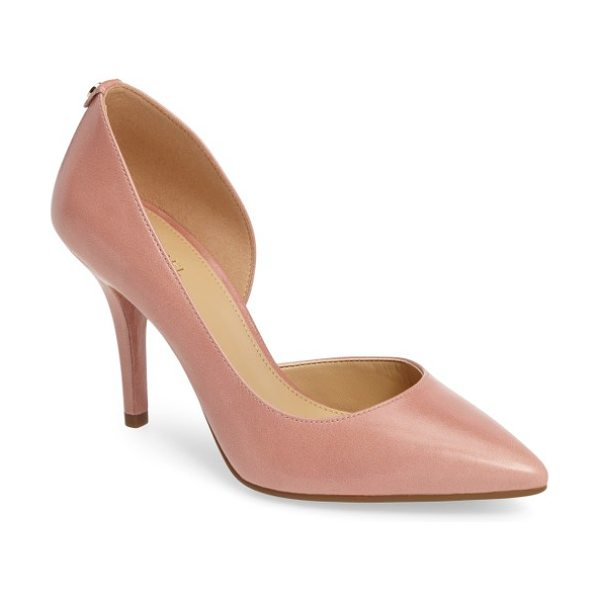 MICHAEL Michael Kors 'nathalie flex' half d'orsay pump in light rose leather - An immaculate half d'Orsay silhouette defines a lithe...