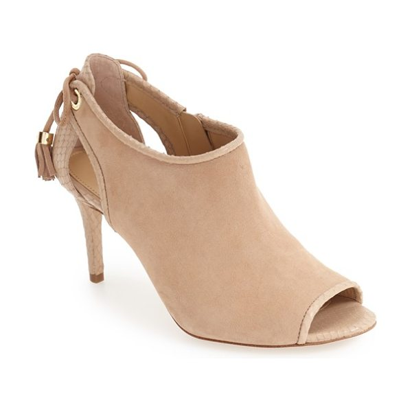 MICHAEL MICHAEL KORS peep toe bootie - Tiny tassels detailed with logo-etched hardware pair...