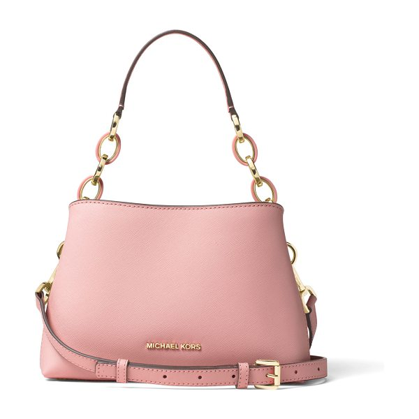 MICHAEL Michael Kors Portia small saffiano shoulder bag in blossom