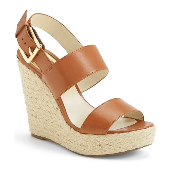 MICHAEL Michael Kors posey espadrille wedge sandal in luggage