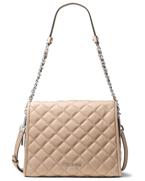 MICHAEL Michael Kors Rachel Medium Quilted Leather Satchel Bag in bisque - MICHAEL Michael Kors quilted soft lamb leather satchel...