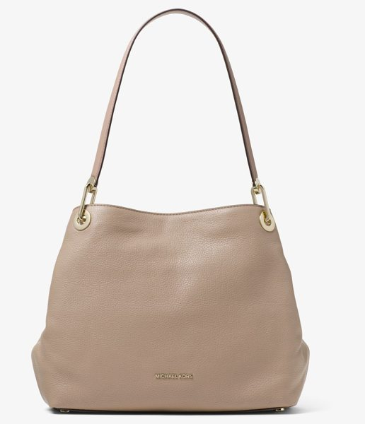 MICHAEL Michael Kors Raven Large Pebbled Leather Shoulder Bag in brown - Our Raven Shoulder Bag Is A Stylish Wear-Everywhere...