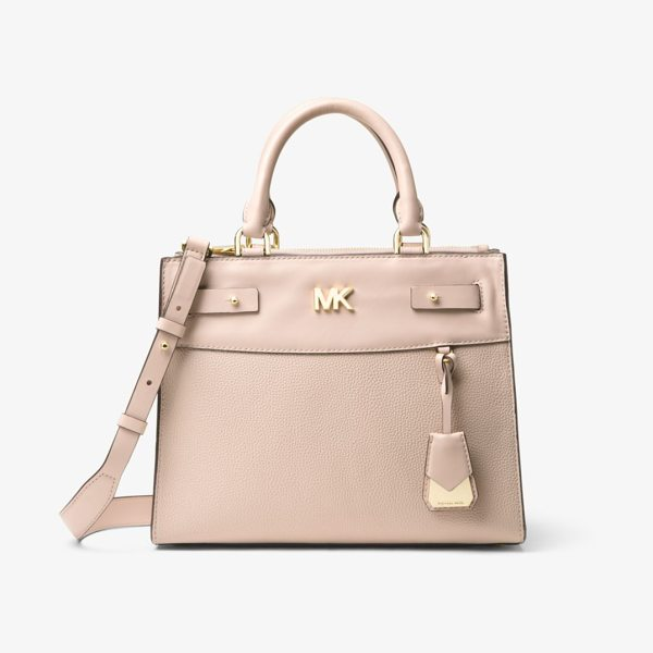 MICHAEL Michael Kors Reagan Medium Leather Satchel in pink - The Reagan Satchel Is Designed In Luxe Leather With...