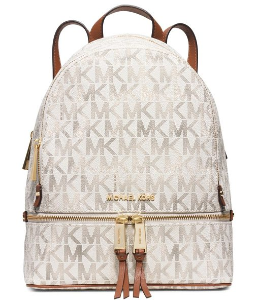 MICHAEL Michael Kors rhea medium faux-leather backpack in vanilla