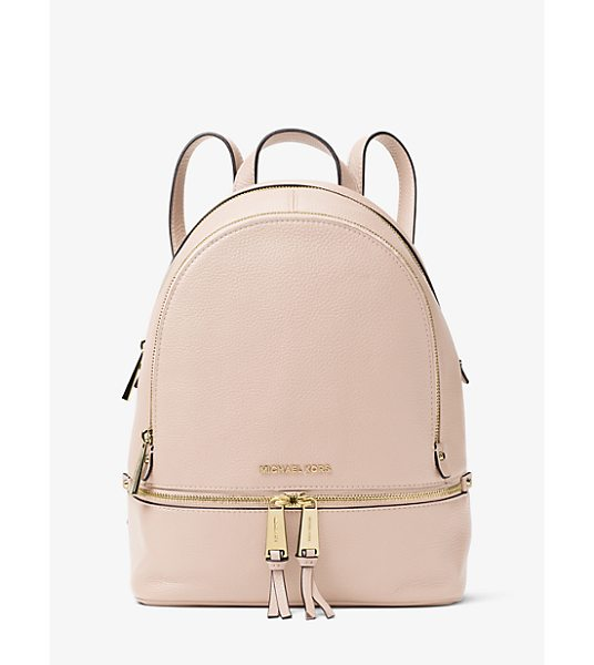 MICHAEL Michael Kors Rhea Medium Leather Backpack in pink