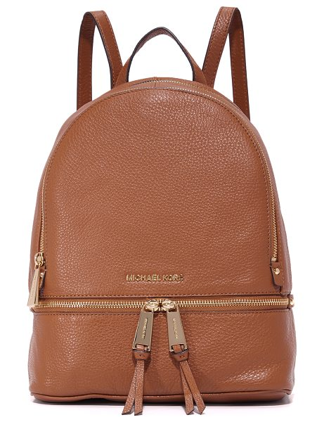 MICHAEL Michael Kors rhea small backpack in luggage - A versatile MICHAEL Michael Kors backpack, rendered in...