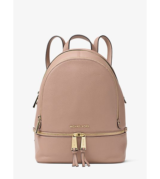 MICHAEL Michael Kors Rhea Small Leather Backpack in natural - Laid-Back Yet Luxe Our Rhea Backpack Redefines Big-City...
