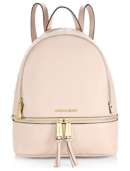 MICHAEL Michael Kors rhea zip leather backpack in soft pink