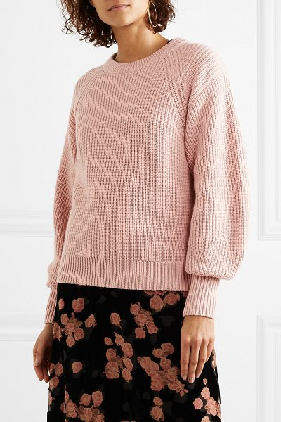 MICHAEL Michael Kors ribbed knitted sweater in antique rose