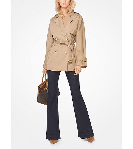 MICHAEL MICHAEL KORS Sateen Trench Coat - A Modern Take On The Outerwear Icon This Trench Coat...