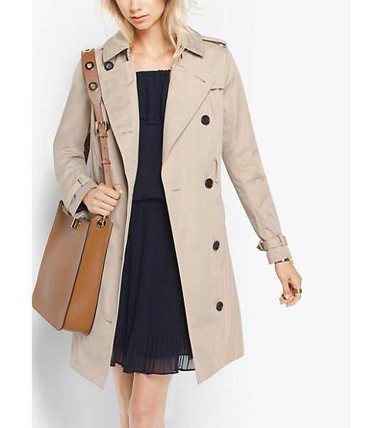 MICHAEL Michael Kors Sateen Trench Coat in natural - An Outerwear Classic Our Trench Coat Is Traditionally...