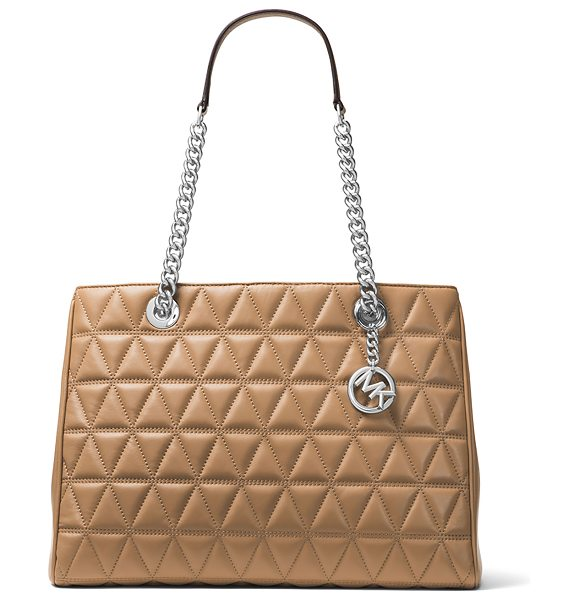 MICHAEL Michael Kors Scarlett Large Quilted Tote Bag in brown - MICHAEL Michael Kors quilted lambskin leather tote bag....