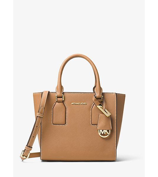 MICHAEL Michael Kors Selby Leather Messenger in brown