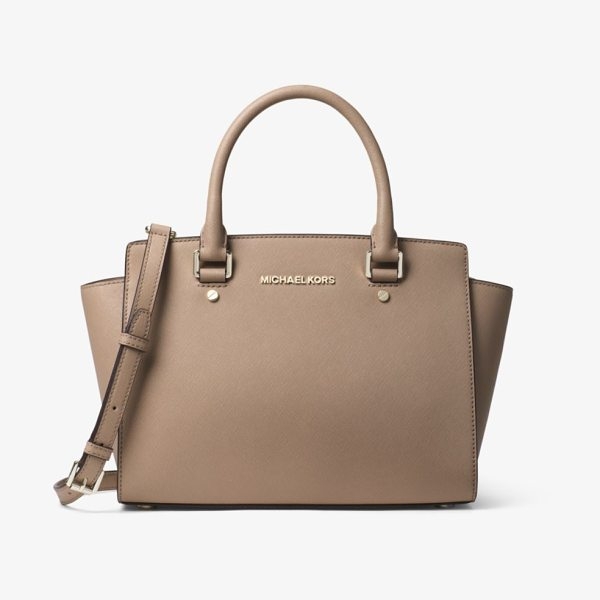 MICHAEL MICHAEL KORS Selma Medium Saffiano Leather Satchel - Get A Handle On Timeless Style With Our Selma Satchel....