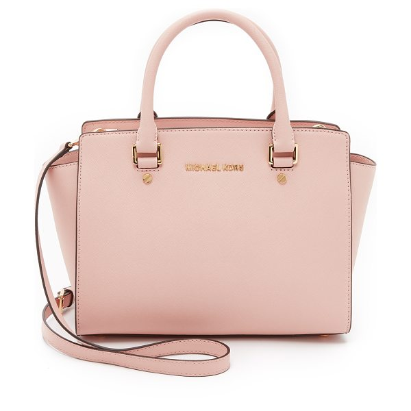 MICHAEL Michael Kors Selma medium satchel in ballet - A large MICHAEL Michael Kors tote in saffiano leather....
