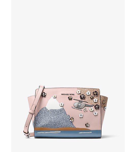 MICHAEL Michael Kors Selma Nouveau Novelty Tokyo Leather Messenger in pink - Inspired By The Global Fashion Spirit And Jet-Set...