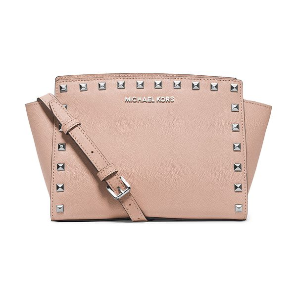MICHAEL Michael Kors Selma stud medium top-zip messenger bag in ballet