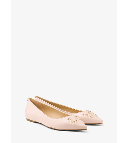 MICHAEL Michael Kors Sia Love Studded Leather Flat in pink - A Relevant Update To A Timeless Silhouette Our Sia Flats...