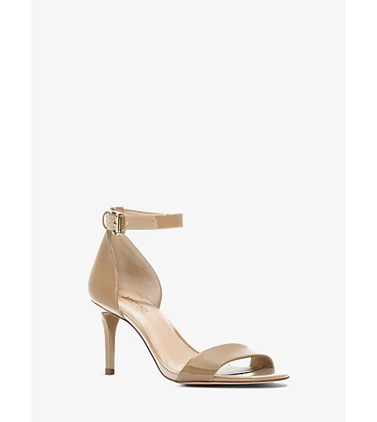 MICHAEL Michael Kors Sienna Patent-Leather Sandal in natural - With A High-Gloss Patent-Leather Design And Sleek...