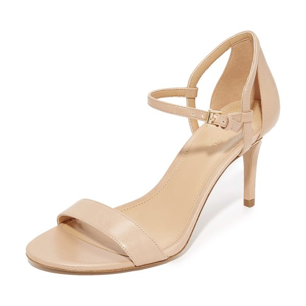 MICHAEL Michael Kors simone mid sandals in light khaki - Versatile MICHAEL Michael Kors sandals with slim leather...