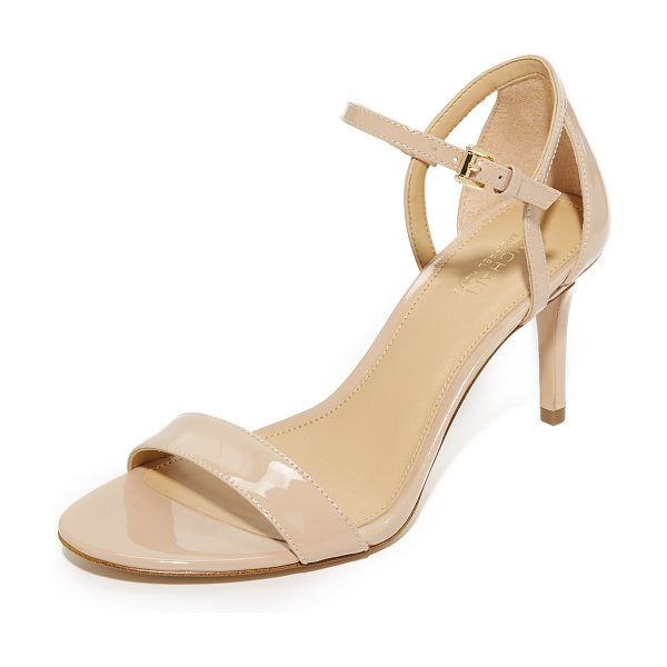 MICHAEL MICHAEL KORS simone mid sandals - Glossy patent-leather composes these MICHAEL Michael...