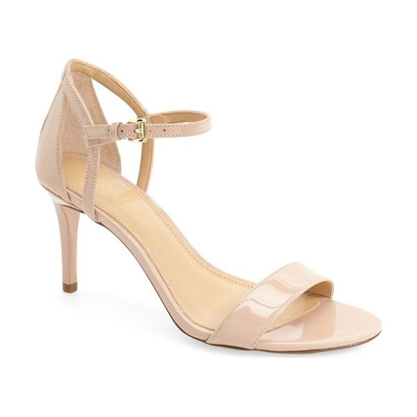 MICHAEL Michael Kors 'simone' sandal in pink - A slender ankle strap slides along a curved anchor strap...