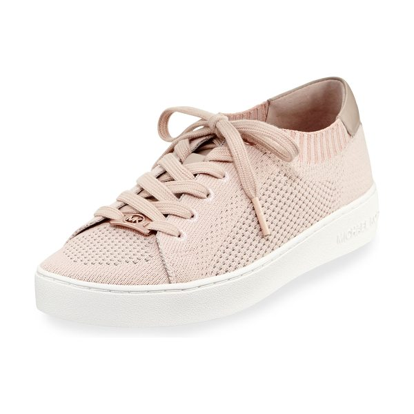 "MICHAEL Michael Kors Skyler Knit Low-Top Sneaker in pink - MICHAEL Michael Kors ""Skyler"" knit fabric low-top..."