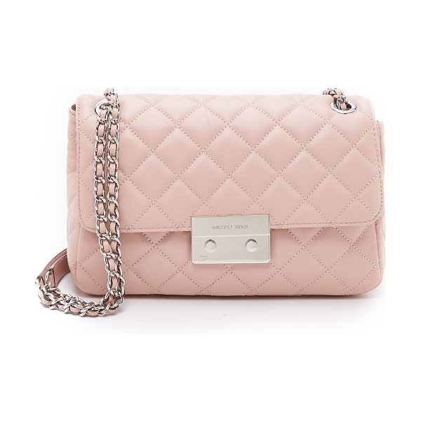 MICHAEL Michael Kors Sloan large chain shoulder bag in ballet - A versatile MICHAEL Michael Kors bag in plush quilted...