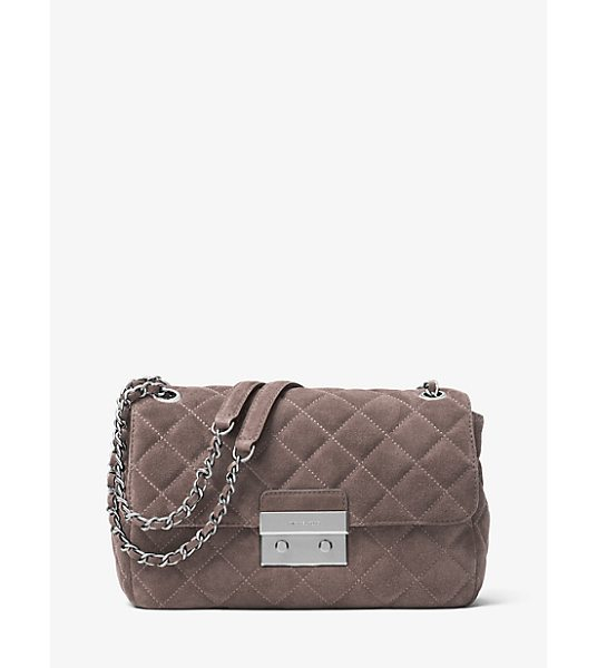 MICHAEL Michael Kors Sloan Large Quilted-Suede Shoulder Bag -