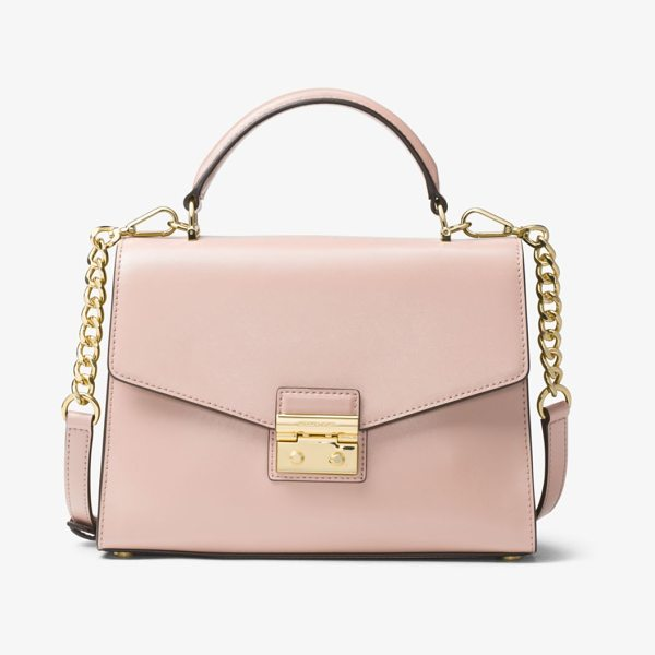 MICHAEL MICHAEL KORS Sloan Leather Satchel - Chain-Link Details Meet Smooth Leather For A Polished...