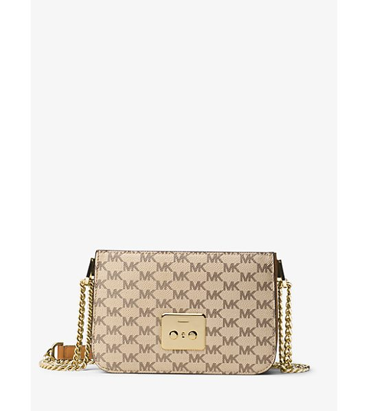 MICHAEL Michael Kors Sloan Select Mix And Match Medium Heritage Logo Body in natural - Customize A Sophisticated Shoulder Bag With Our New...