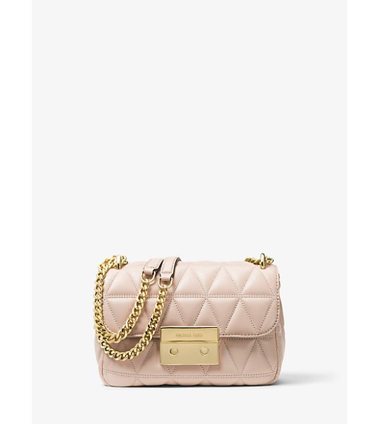 MICHAEL Michael Kors Sloan Small Quilted-Leather Crossbody in pink
