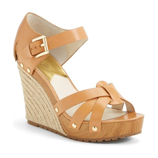 MICHAEL MICHAEL KORS somerly espadrille wedge - A stunning summer sandal exudes an espadrille influence...